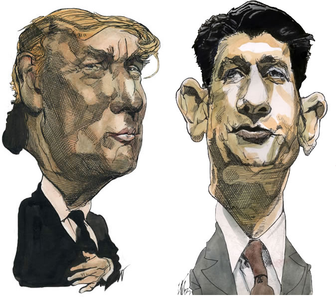 Donald Trump and Paul Ryan