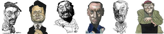 Directors Caricatures by Kerry Waghorn