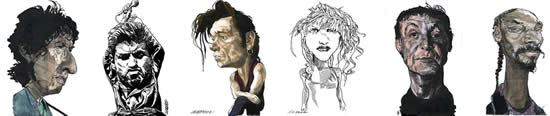 Musicians Caricatures by Kerry Waghorn