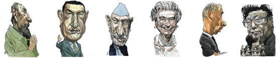 World Political Caricatures by Kerry Waghorn