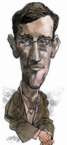 Edward Snowden caricature