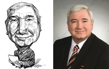 Ted Koskie caricature and original