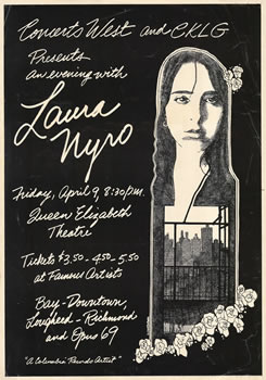 1971 Lura Nyro concert poster