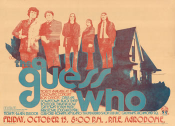 1971 Guess Who concert poster