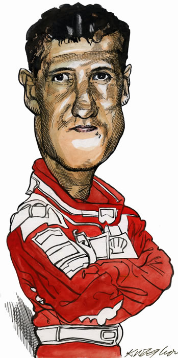 Michael Schumacher, the seven-time Formula 1 world champion